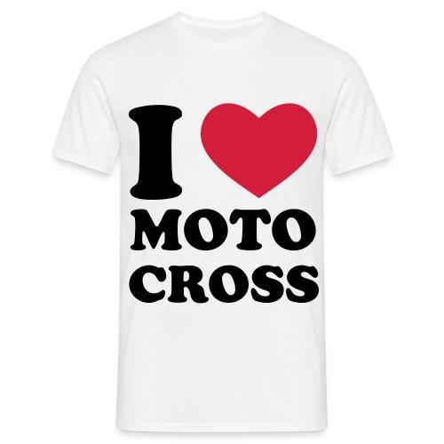 i ♥ Moto Cross T-Shirt - Männer T-Shirt
