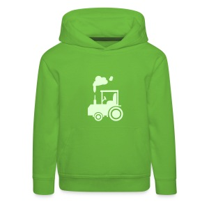 Traktor (glow in the dark) - Kinder Kapuzenpullover - Kinder Premium Hoodie