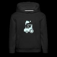 Pullover & Hoodies ~ Kinder Premium Kapuzenpullover ~ Traktor (power-reflex) - Kinder-Kapuzenpullover