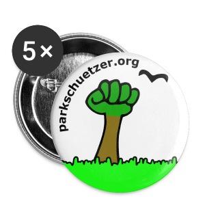 Button weiss, 32mm - Buttons mittel 32 mm
