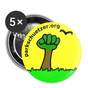 Button gelb, 25mm - Buttons klein 25 mm