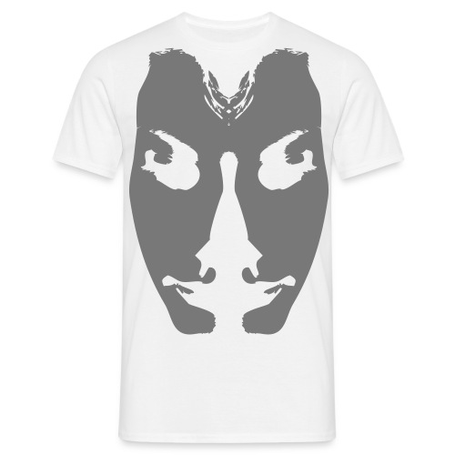 Half-face man - Mannen T-shirt