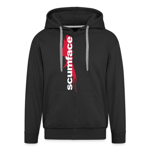 Scumface Reservoir Dogs Logo Zipper Hoodie (Black) - Men's Premium Hooded Jacket