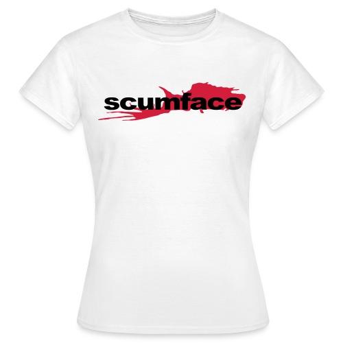 Scumface Reservoir Dogs Logo Ladies T (White) - Women's T-Shirt