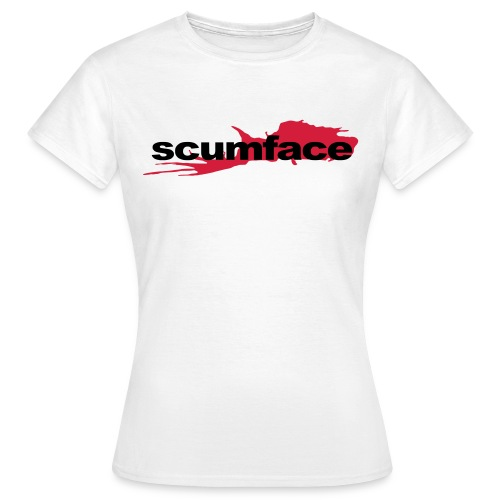 Scumface Reservoir Dogs Logo Ladies T (White) - Women's T-Shirt