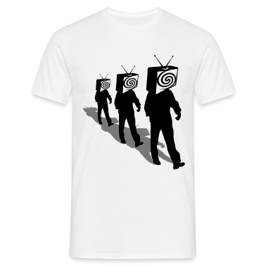 White Televized 3 Men's T-Shirts