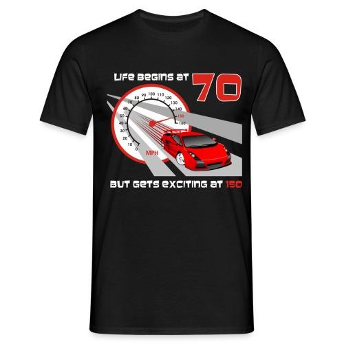 Car - Life begins at 70 - Men's T-Shirt