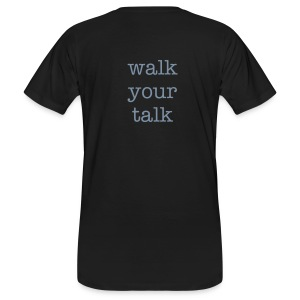 walk your talk - Männer Bio-T-Shirt