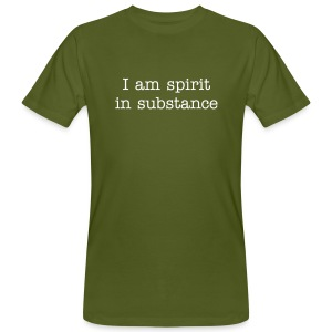 spirit in substance - Männer Bio-T-Shirt