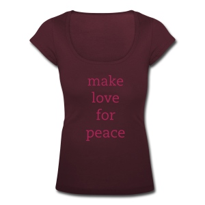 make love for peace - Frauen T-Shirt mit U-Ausschnitt