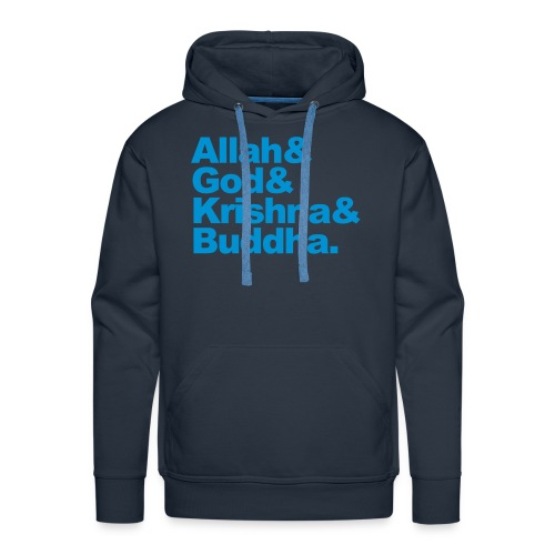 God Allah Krishna & Buddha man hoody capuchontrui - Mannen Premium hoodie