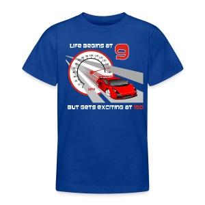 Car - Life begins at 9 - Teenage T-shirt