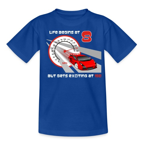 Car - Life begins at 8 - Teenage T-shirt