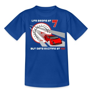 Car - Life begins at 7 - Teenage T-shirt