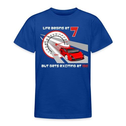 Car - Life begins at 7 - Teenage T-Shirt