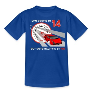 Car - Life begins at 14 - Teenage T-shirt