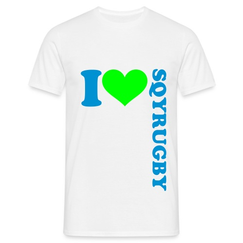T-shirt I love SQYRUGBY - T-shirt Homme