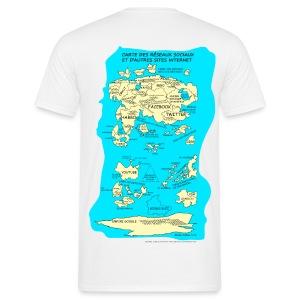 Carte des réseaux sociaux (version homme) - T-shirt Homme