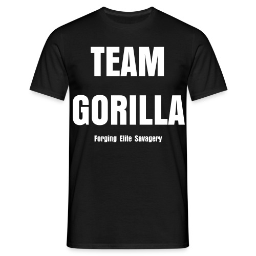 Team Gorilla Men's Black Tee - Men's T-Shirt