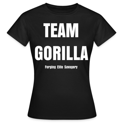 Team Gorilla Ladies Black Tee - Women's T-Shirt