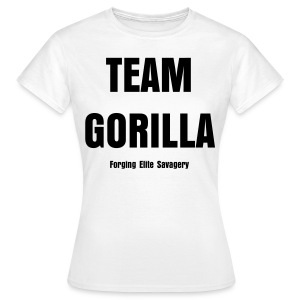 Team Gorilla Ladies White Tee - Women's T-Shirt