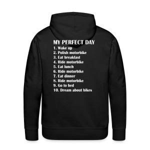 My perfect day  - Sweat-shirt à capuche Premium pour hommes