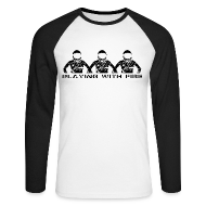 Long sleeve shirts ~ Men's Long Sleeve Baseball T-Shirt ~ Playing with Fire