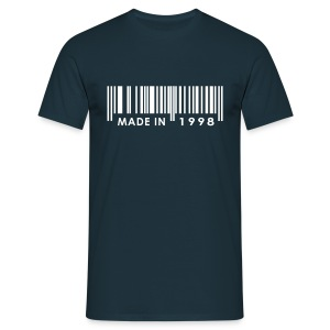 Made in 1998 birthday t-shirt with barcode - Men's T-Shirt