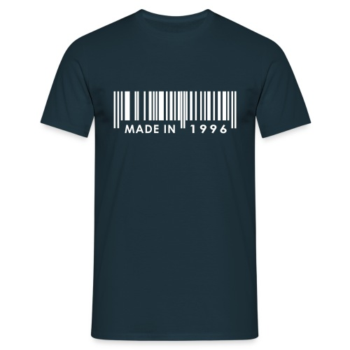 Made in 1996 birthday t-shirt with barcode - Men's T-Shirt