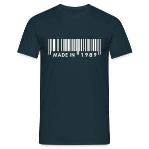 Made in 1989 birthday t-shirt with barcode - Men's T-Shirt