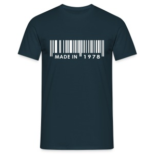 Made in 1978 birthday t-shirt with barcode - Men's T-Shirt
