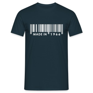 Made in 1966 birthday t-shirt with barcode - Men's T-Shirt