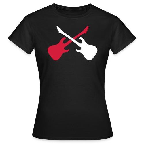T-Shirt Guitares Femme - T-shirt Femme