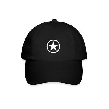 Black/black Star in circle Caps & Hats