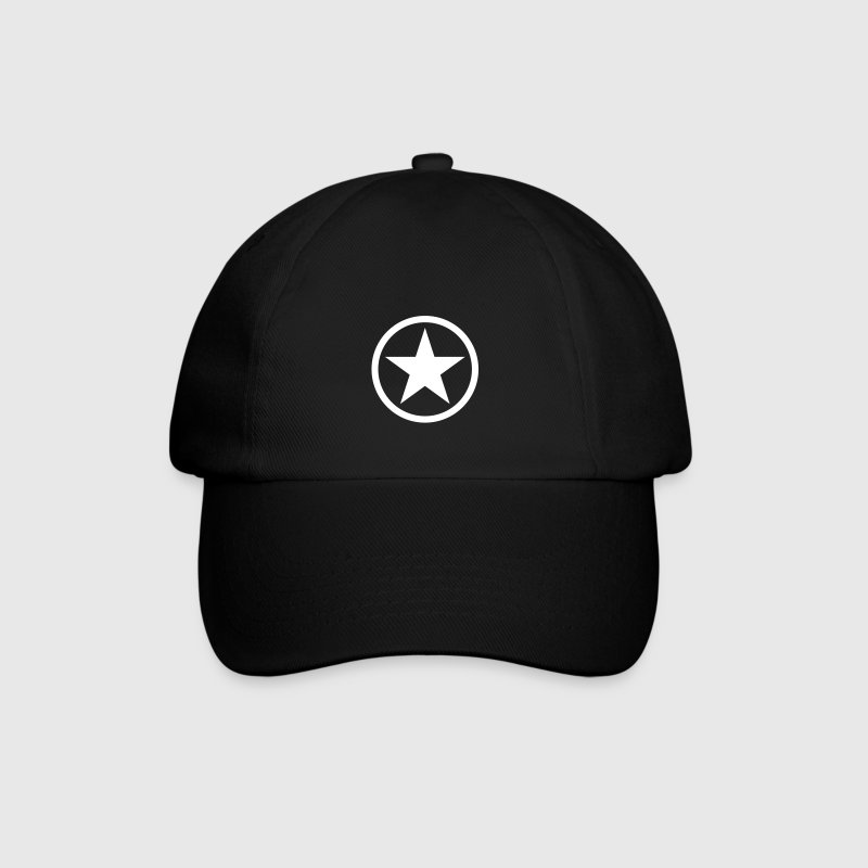 Black/black Star in circle Caps & Hats - Baseball Cap