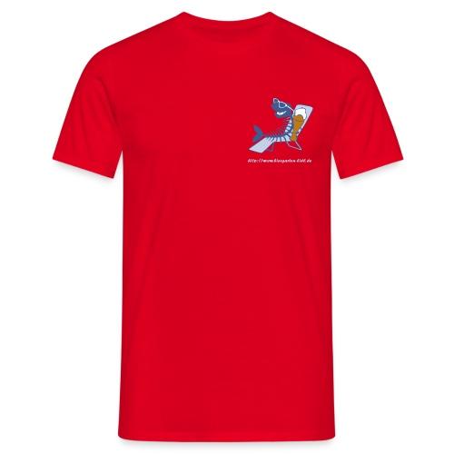 Biergarten Lidl Aufdruck Vorderseite - Männer T-Shirt