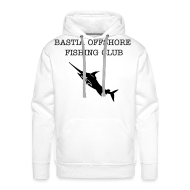 Sweat-shirts ~ Sweat-shirt à capuche Premium pour hommes ~ sweatshirt à capuche blanc Bastia Offshore Fishing