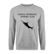 Sweat-shirts ~ Sweat-shirt Homme ~ sweatshirt noir Bastia Offshore Fishing