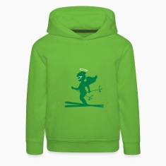 Light green Heavenly skiers  Kids' Tops