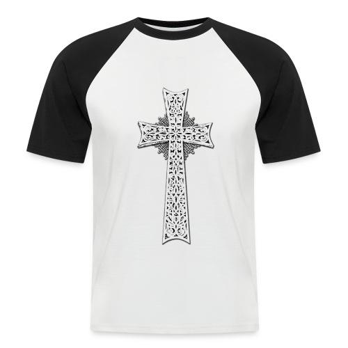 Armenian Cross - Männer Baseball-T-Shirt