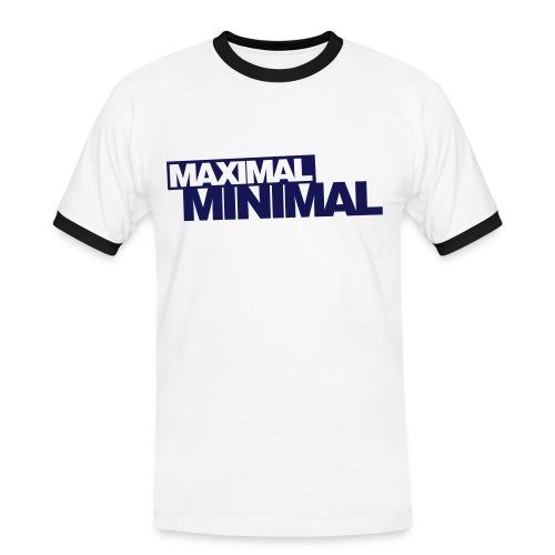Maximal Minimal - Männer Kontrast-T-Shirt
