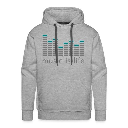 Music is live - Hoody - Männer Premium Hoodie