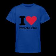 Shirts ~ Teenager T-shirt ~ I Love Zwarte Piet