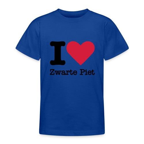 I Love Zwarte Piet - Teenager T-shirt