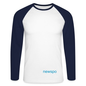 newspo-swimteam backsite - Men's Long Sleeve Baseball T-Shirt