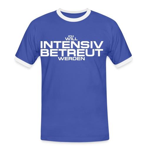 Intensivbetreuung hellblau - Männer Kontrast-T-Shirt
