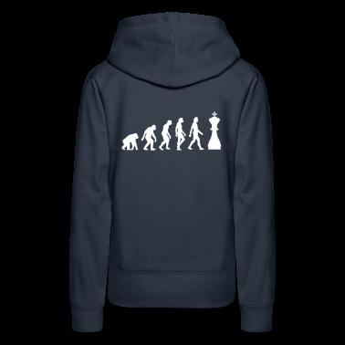Blu scuro Evolution of Chess 1 (1c) Pullover