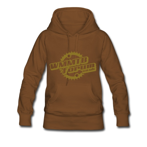Womens WMMTB Forum 'Logo'  hooded sweatshirt (matte gold print) - Women's Premium Hoodie