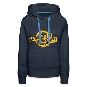 Womens WMMTB Forum 'Logo'  hooded sweatshirt (yellow gold  print) - Women's Premium Hoodie