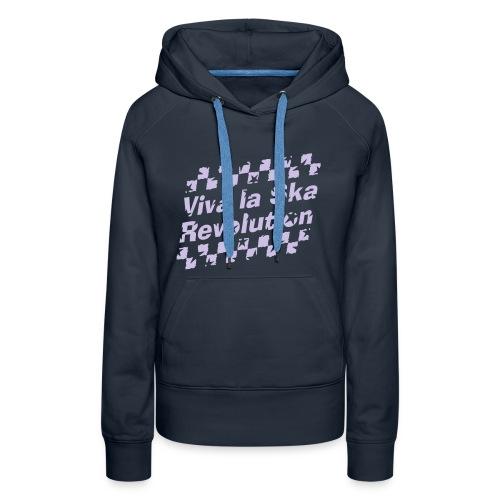 navyfarbener Ska-Kapuzenpullover Viva la Ska Revolution 1farbig - Frauen Premium Hoodie
